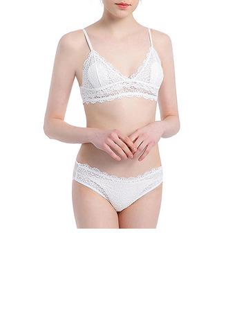 Elegante Chinlon Nylon Bralettes Conjuntos De Sutiã