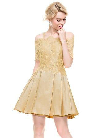 A-Line/Princess Sweetheart Short/Mini Taffeta Homecoming Dress