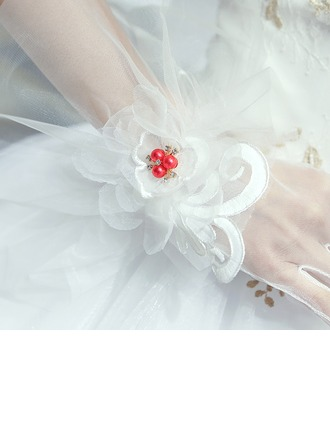 Tulle/Lace Elbow Length Bridal Gloves