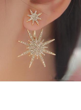 Luminoso Aleación/Diamantes de imitación Señoras' Pendientes