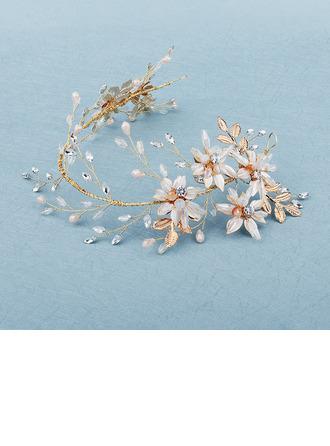 Vackra Och Legering Pannband med Strass/Venetianska Pärla (Säljs i ett enda stycke)