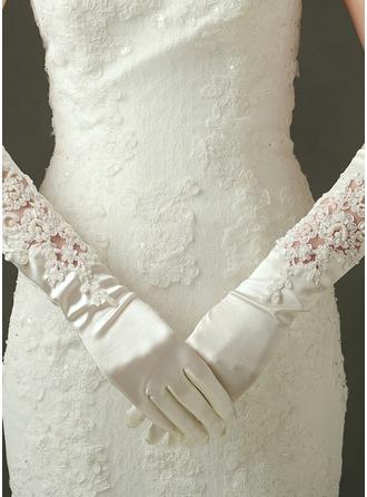 Tulle/Satin Elbow Length Bridal Gloves