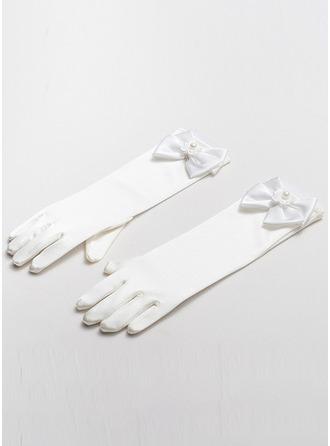 Satäng med Fauxen Pärla Handleds Längd Handske
