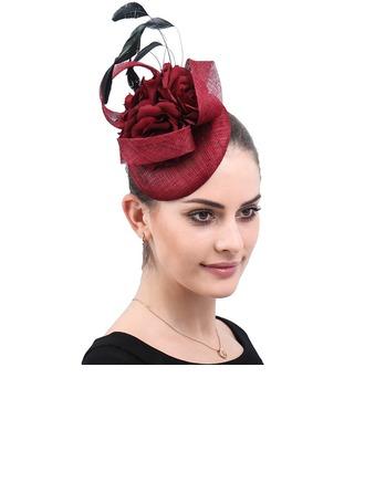 Dames Fait main /Le plus chaud Batiste avec Fleur en soie Chapeaux de type fascinator/Kentucky Derby Des Chapeaux