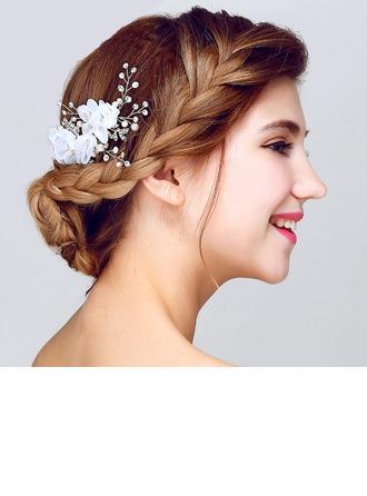 Glamourous Yapay elmas/Suni İpek Çiçekler ve tüyler