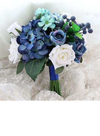 Floreciente Redondo Seda/Tela Ramos de la dama de honor -