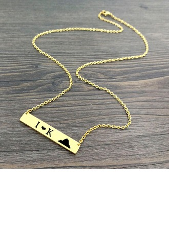 Classic Alloy Couples' Fashion Necklace