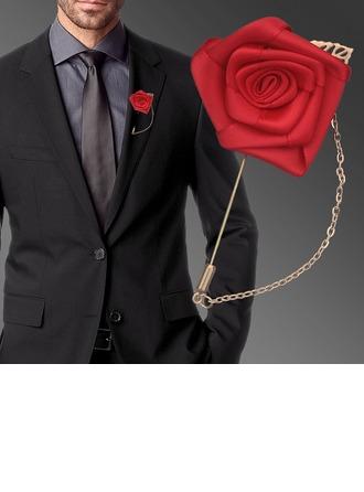 Romantische Satijn Boutonniere (verkocht als één geheel) -