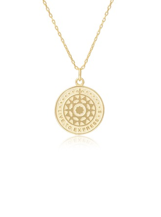 18k Gold Plated Silver Circle Pendant Necklace Discs & Circles - Christmas Gifts