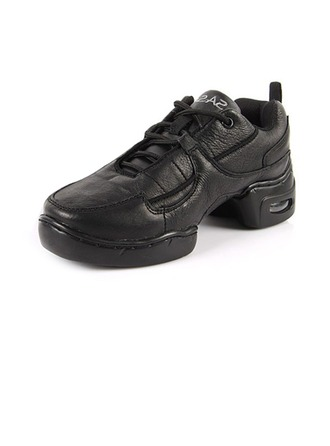 Women's Men's Real Leather Sneakers Practice Dance Shoes