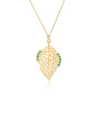 18k Gold Plated Silver Tree Pendant Necklace