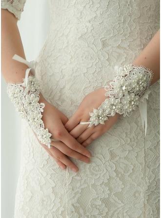 Кружева Наручные длина Свадебные перчатки