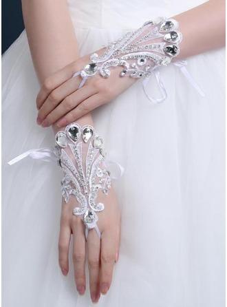 Krajka Po zápěstí Svatební rukavice