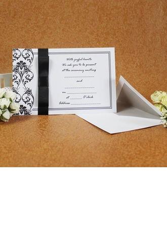 klassisk stil Enkla kort Invitation Cards med Färgband (Sats om 50)