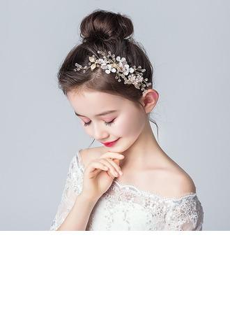 Legierung/Kristall mit Blume Stirnbänder (Sold in a single piece)