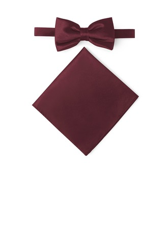 Klassisk stil sløyfe Pocket Square satin