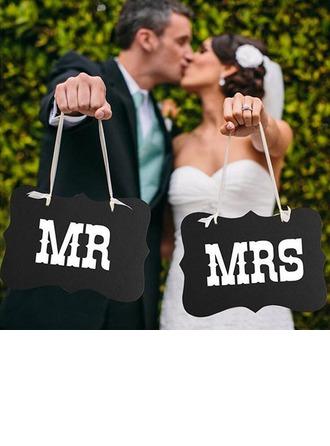 Bride Presenter - Eelegant Trä Foto Booth Prop (Set av 2)