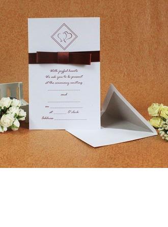 klassisk stil Enkla kort Invitation Cards med Stråkar/Färgband (Sats om 50)