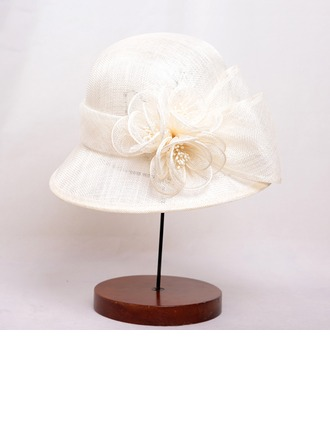 Ladies' Classic Polyester With Flower Bowler/Cloche Hat
