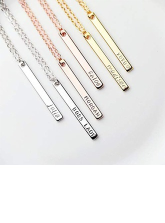 Personalized Ladies' Romantic 925 Sterling Silver Engraved Necklaces For Bridesmaid/For Friends/For Couple