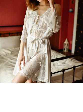 Chinlon Klasik Gelin/Kadınsı Pijama mağazası/Sleepwear Setleri