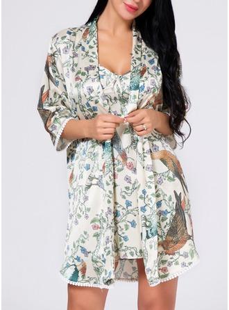 Bride Silk Floral Robes