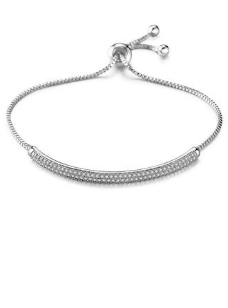Damen Einfache Kupfer/Zirkonia Zirkonia Armbänder Ihr