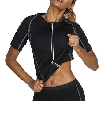 Mulheres Clássico/Esportes/suor Algodão/Borracha Respirabilidade/Permeabilidade da umidade Maiô/Tanques E Camis/Esportes Cintas