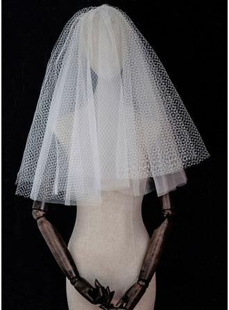 Four-tier Cut Edge Elbow Bridal Veils