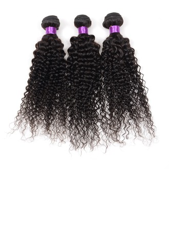 4A Frisé les cheveux humains Tissage en cheveux humains (Vendu en une seule pièce)