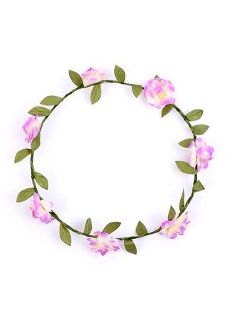 Kunstseide mit Blume Blumen-Stirnband