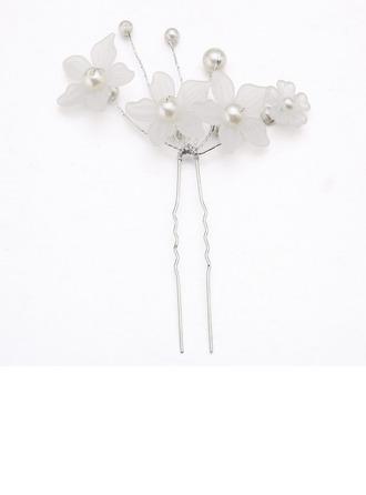 Elegante Aleación/La perla de faux/Acrílico Horquillas (Se venden en una sola pieza)