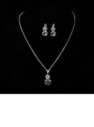 Flower Shaped Alloy With Rhinestone Zircon Women's Jewelry Sets