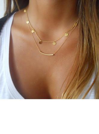 Glänzende Legierung Damen Mode-Halskette