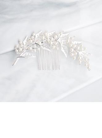 Filles Jolie Alliage Des peignes et barrettes avec Strass/Perle Vénitienne