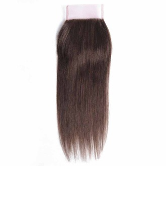 """4""""*4"""" 4A Straight Human Hair Closure (Sold in a single piece)"""
