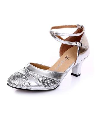 De mujer Cuero Sandalias Danza latina con Agujereado Zapatos de danza