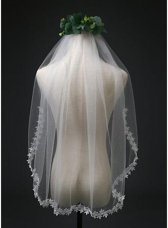 Jednovrstvá Elbow Svatební Závoje