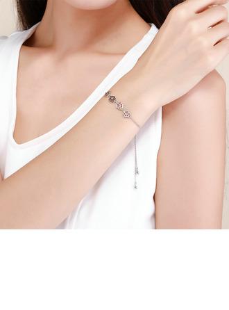 Geplatineerd Schakelketting Bolo armbanden met Hondenpoot Voetafdruk - Valentijnsgeschenken Voor Haar