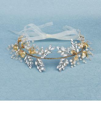 Piękny Stras/ Krysztal Górski/Faux Pearl Spinki do Włosów Z Weneckie Perły (Sprzedawane w jednym kawałku)