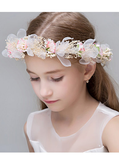 Polyester With Lace/Flower Flower Headband