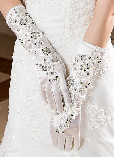 Elastic Satin Elbow Length Party/Fashion Gloves