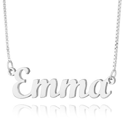 Sterling Silver Script Two Name Necklace -