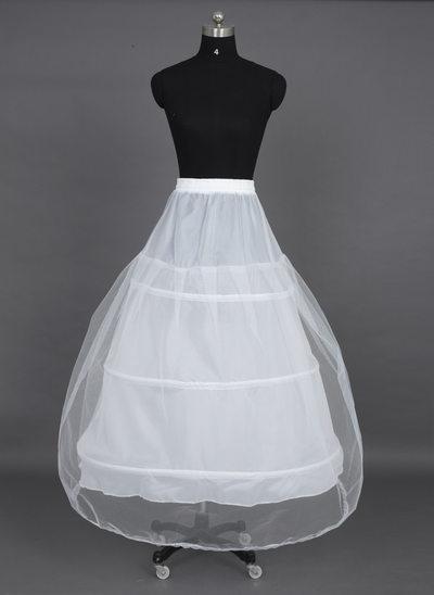 Women Nylon/Tulle Netting Tea-length 1 Tiers Petticoats