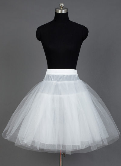 Women Nylon/Tulle Netting Short-length 3 Tiers Petticoats