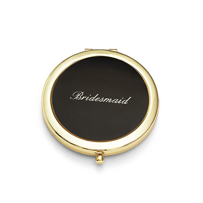 Druhna Prezenty - Spersonalizowane Zabytkowe Stal Nierdzewna Kompaktowe lustro