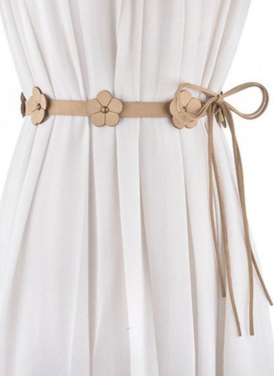 Bella/Elegante PU Cintura con Fiore