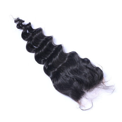 "4""*4"" 4A Non remy Loose Human Hair Closure (Sold in a single piece) 50g"