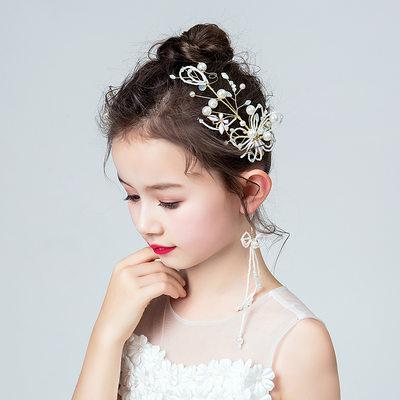 Taslar Ile Çiçek Headbands/Küpeler (3 Set)