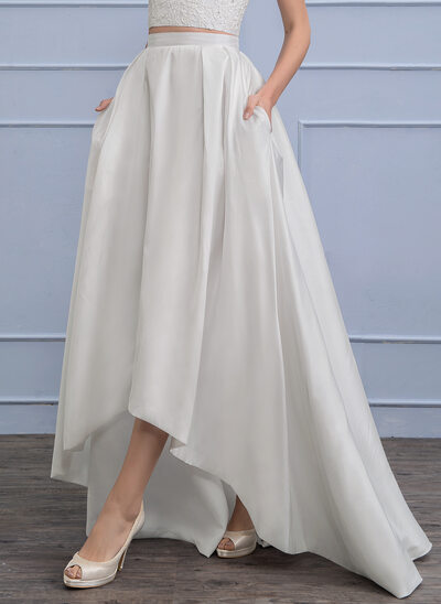 Separates Asymmetrical Taffeta Wedding Skirt